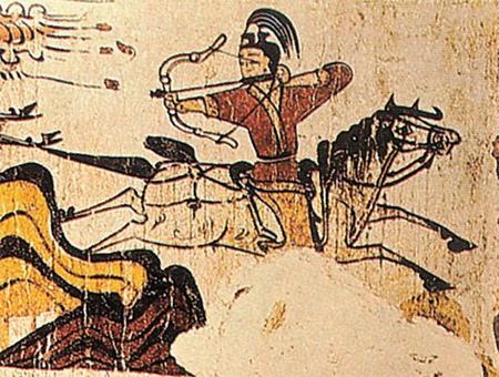 고구려 무용총에서 발견된 수렵도에서도 말 타고 사냥하는 사람의 모습을 볼 수 있어요