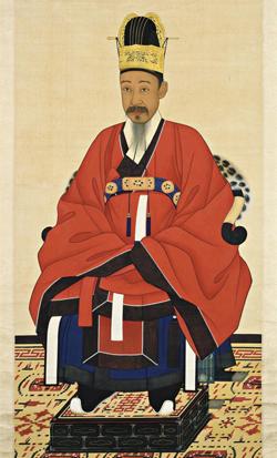 작품1. 이한철, 유숙 추정, '이하응 초상 금관조복본', 1869.
