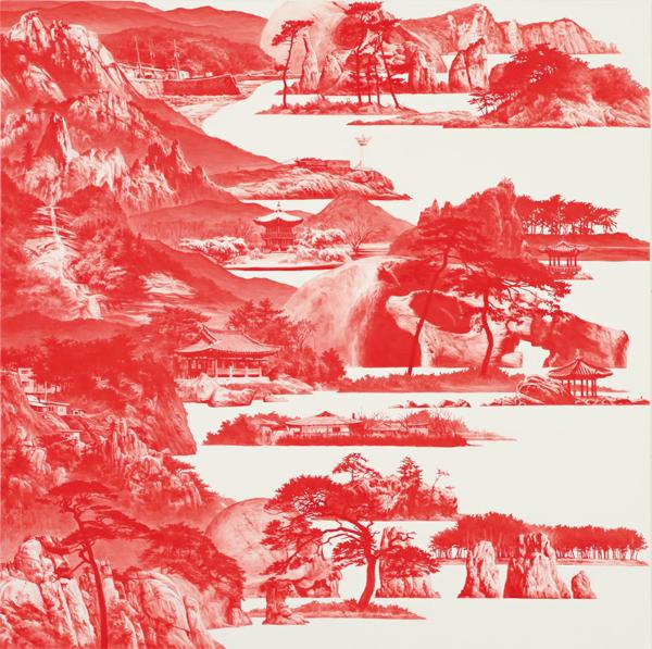 작품3. 이세현, '붉은 산수 015APR04', 2015.