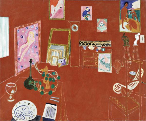 작품4. 앙리 마티스, '붉은 화실', 1911.