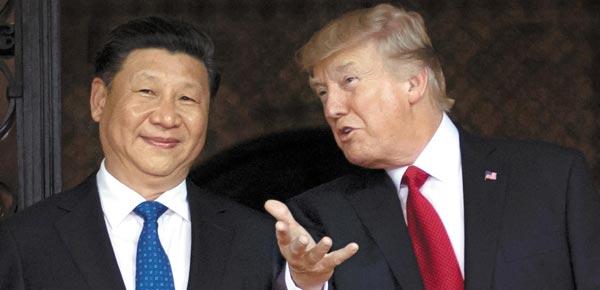 도널드 트럼프(오른쪽) 미국 대통령과 시진핑(왼쪽) 중국 국가주석 모습.