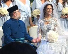 말레이시아 국왕 무하맛 5세(왼쪽)는 러시아 모델과 결혼하고 최근 왕위를 내려놨어요.