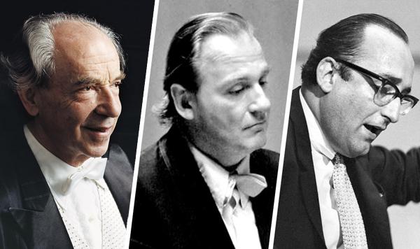 지난달 오스트리아 출신 피아니스트 파울 바두라스코다(왼쪽)가 세상을 떠났어요. 그는 앞서 세상을 떠난 피아니스트 외르크 데무스(가운데)·프리드리히 굴다(오른쪽)와 함께 '빈의 3총사'로 불렸습니다.