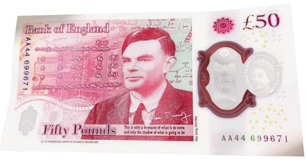 영국의 새로운 50파운드 지폐. /연합뉴스