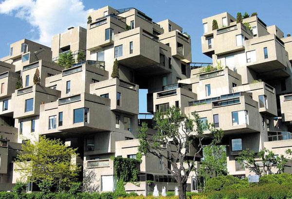 캐나다 몬트리올에 있는 아파트'해비탯67'입니다. /위키피디아